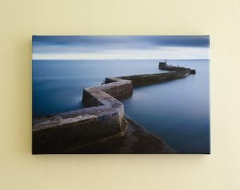 St Monans Zig Zag Pier Canvas - Scottish Seascape Photography - East Neuk, Fife - Ready To Hang