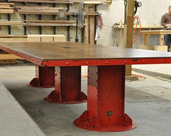 Industrial Conference Table Etsy - Vintage industrial conference table
