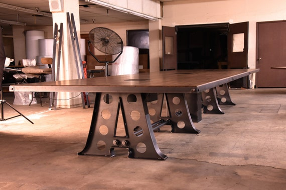 Vintage Industrial Giant A Frame Conference Table Etsy - Vintage industrial conference table