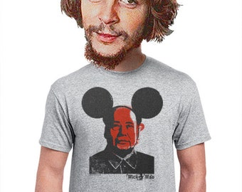 9498465d51 mickey mao, funny shirt, mao tse tung, mickey mouse, political t-shirt,  geeky, lowbrow gift, artsy, hip edgy design, political humor, s-4xl
