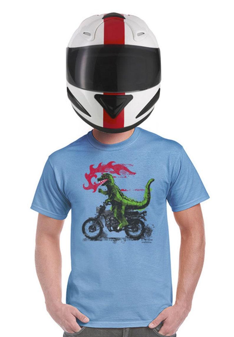 936c78a9c Godzilla motorcycle t-shirt biker t shirt harley davidson gift | Etsy