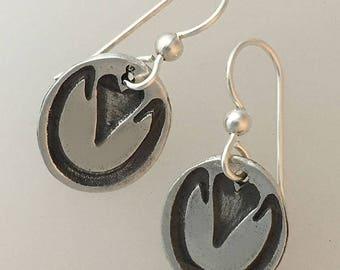 Horse hoof print earrings