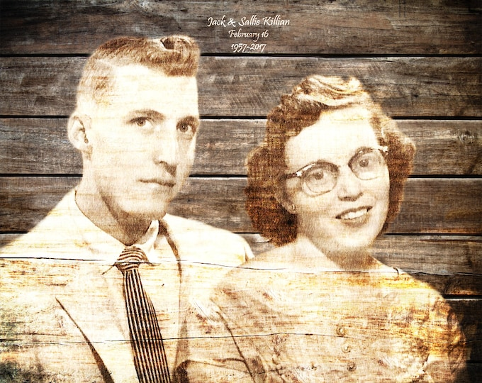 Parents Anniversary Gift 50th Anniversary Gift 50 Years Of Marriage Family Portrait Photo Gift 5th Anniversary Gift Photo On Wood 16x20