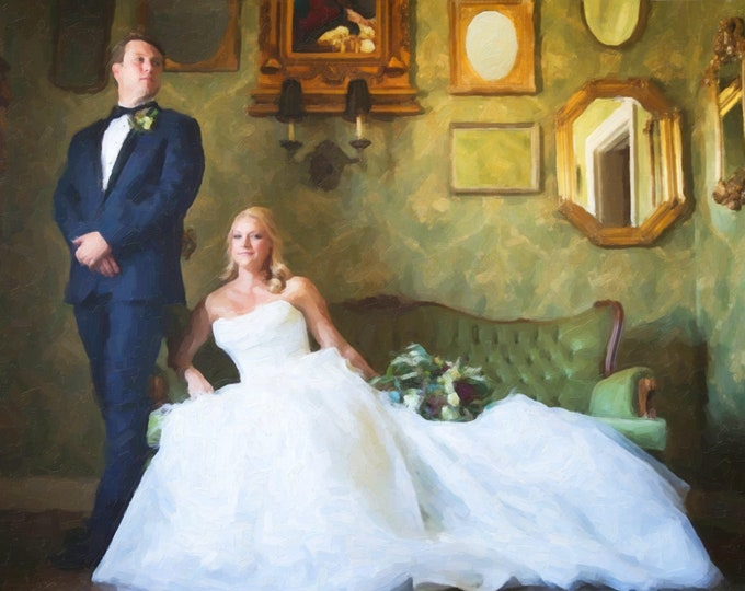 2nd Anniversary Gift Cotton Anniversary Gift For Couple Custom Canvas Oil Style Painting Wedding Decoration Wedding Anniversary Gift 16x20