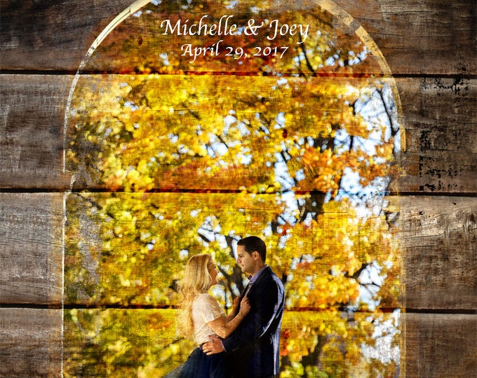 5th Anniversary Gift Wood Anniversary Gift 5 Year Anniversary Photo On Wood Photo Gift Wood Print Wedding Entrance Decoration  20x24