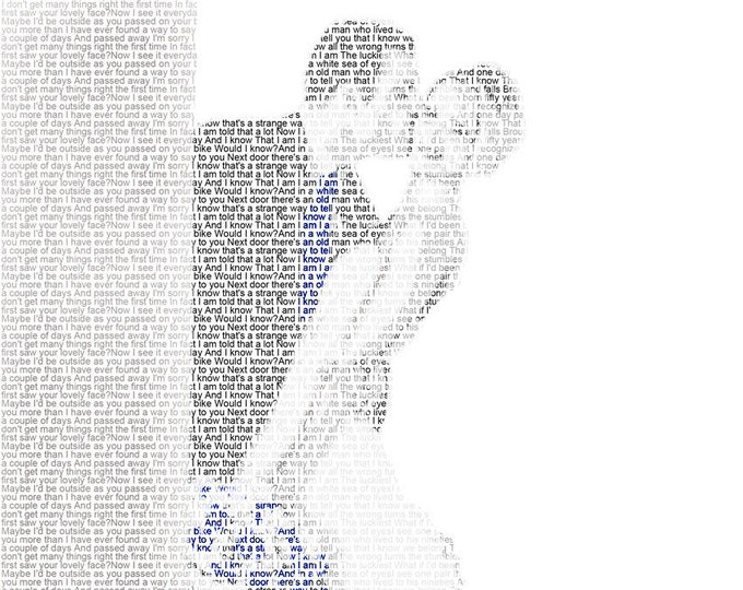 1st Anniversary Gift First Dance Lyrics First Dance Songs Wedding Vow Art Wedding Song Lyrics Paper Anniversary on Heavyweight Paper 8.5x11