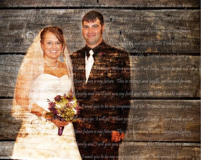 5th Anniversary Gift 5 Year Anniversary Wedding Vow Art Song Lyric Art First Dance Lyrics Wedding Song Art Wedding Anniversary Gift