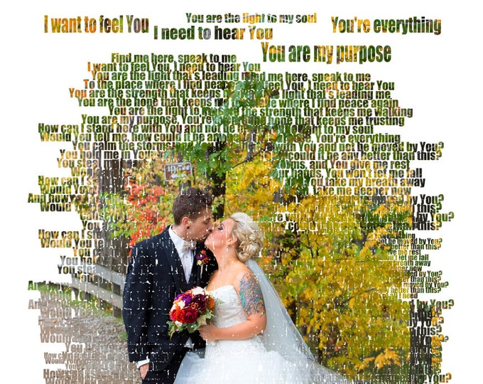 First Dance Lyrics Marriage Proposal First Dance Songs 1st Anniversary 2nd Anniversary Wedding Song Lyrics Cotton Anniversary Canvas  16x20