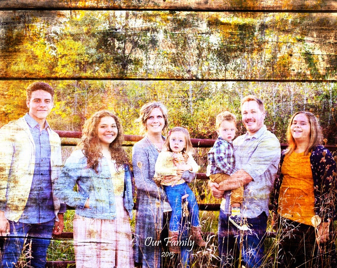 Custom Family Portrait Couple Portrait Gift Rustic Home Decor Bedroom Gift For Couple Gift For Her Home Decor Wall Art 16x20