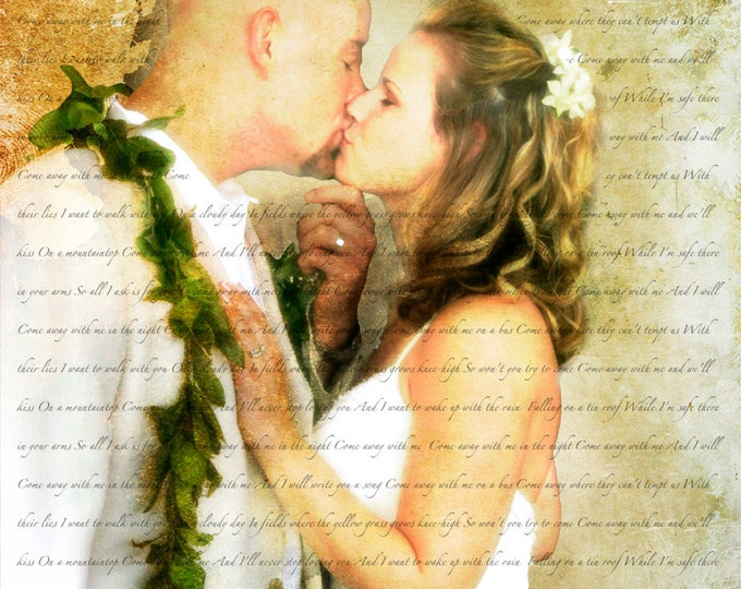 Song Lyric Art Wedding Vow Art 2nd Anniversary Gift Cotton Anniversary First Dance Lyrics Wedding Song Lyrics Wedding Vow Art Canvas 16x20
