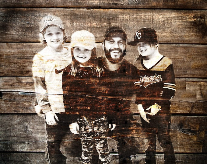Custom Family Portrait Couple Portrait Couple Portrait Gift Rustic Home Decor Boyfriend Gift Girlfriend Gift Gift For Him Wall Art 16x20