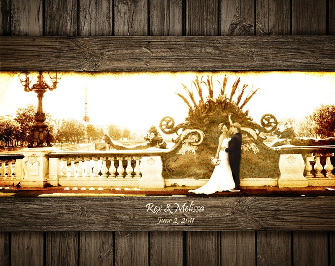 Photo on Wood 5th Anniversary Gift 5 Year Anniversary Photo Gift Parents Anniversary Wedding Picture Gift Wood Anniversary Gift16x20
