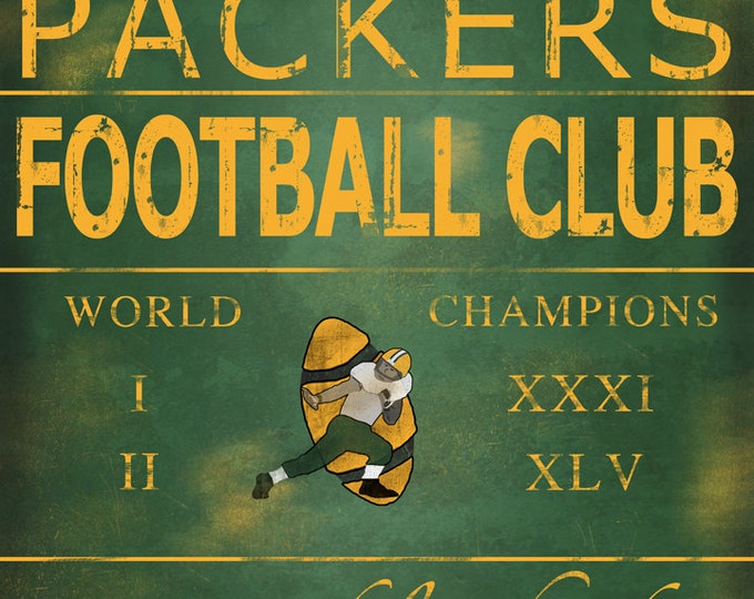 Green Bay Packers Lambeau Field Wood Print Man Cave Decor Gift For Dad Gift For Husband Wall Art Wall Decor Sports Fan Christmas Gift 16x20