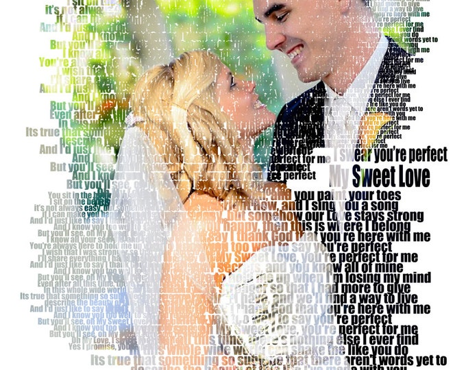 Song Lyric Art 2nd Anniversary Cotton Anniversary 1st Anniversary First Dance Lyrics First Dance Songs Custom Photo Gift Wedding Songs 16x20