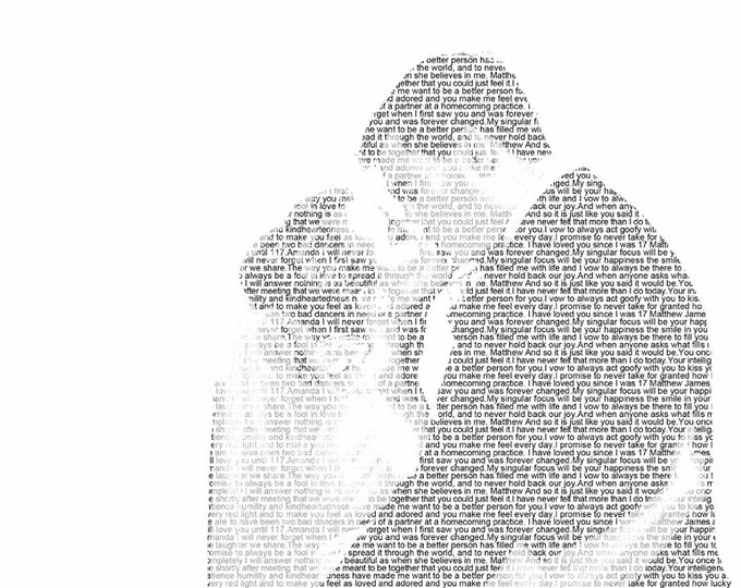 Wedding Vows First Dance Lyrics 1st Anniversary First Dance Songs Wedding Vow Art Wedding Vows Print on Art Paper 8.5x11