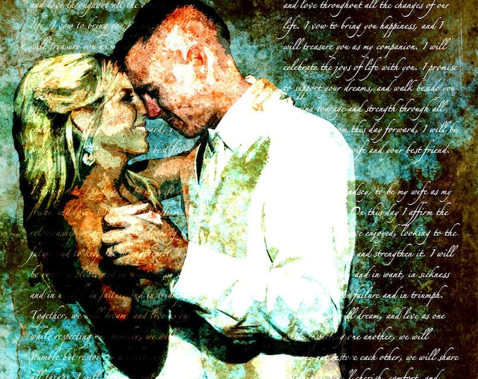 2nd Anniversary Gift Cotton Anniversary 1st Anniversary First Dance Lyrics First Dance Songs Wedding Song Lyrics Wedding Vows Print 16x20