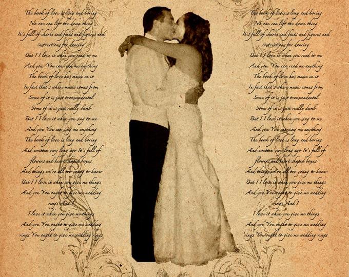 Word Art Song Lyrics Poem Wedding Vows Custom Gift Wall Art On Canvas 12x16