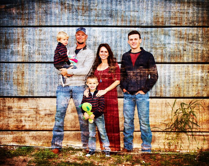 Family Portrait Couple Portrait Rustic Home Decor Bedroom Art Print Housewarming Gift Home Decor Wall Art Rustic Decor Wall Decor 16x20