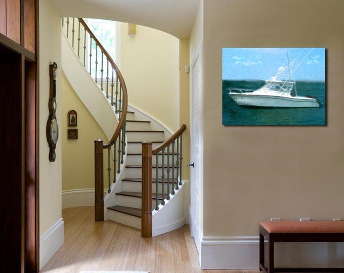 Custom Boat Oil Painting Canvas Decoration Wall Art 20x24