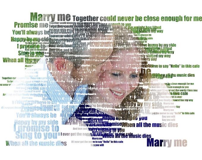 First Dance Lyrics Marriage Proposal First Dance Songs 1st Anniversary 2nd Anniversary Wedding Song Lyrics Cotton Anniversary Canvas  16x20