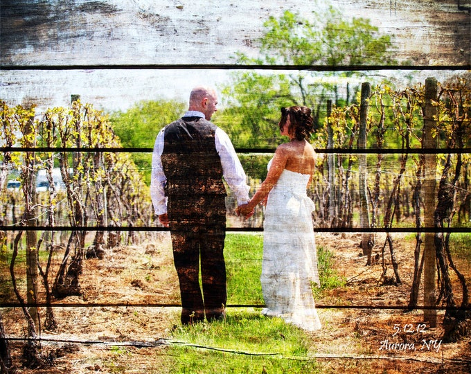 5th Anniversary Gift, 5th Anniversary, 5 year Anniversary, Wedding Picture Gift  Wood Print, Photo to Wood, Custom Wood Wall Decor  16x20