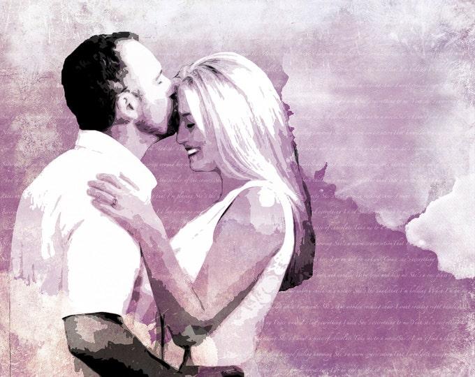 Custom Wedding or Anniversary Pop Art Canvas Gift Word Art 16x20