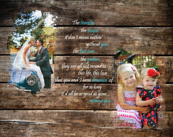 5th Anniversary Gift 5 Year Anniversary Gift Wedding Picture Gift Photo Gift Parents Anniversary Family Portrait Gift For Him  16x20