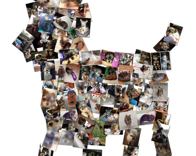 Custom Dog Canvas Mosaic Collage Picture Gift Pet Lover Wall Art 16x20