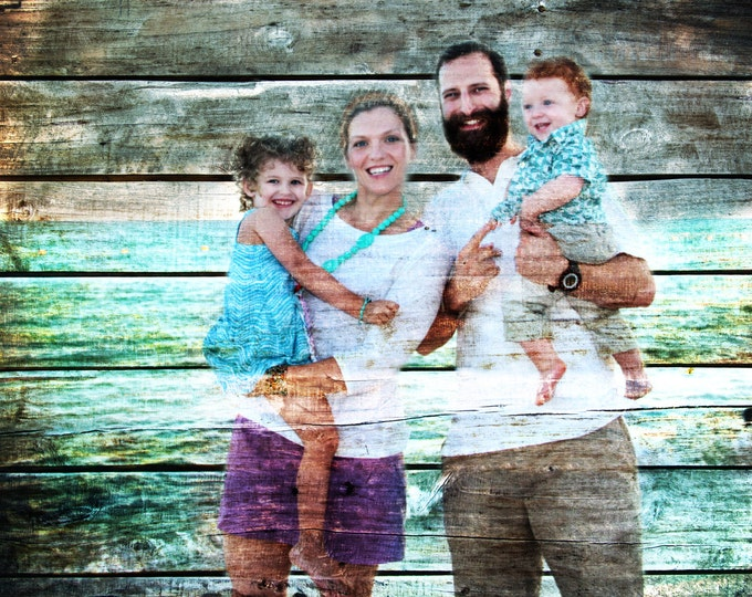 Custom Family Portrait Couple Portrait Gift Rustic Home Decor Couple Portrait Photo On Wood Photo Gift Rustic Decor Gift For Her