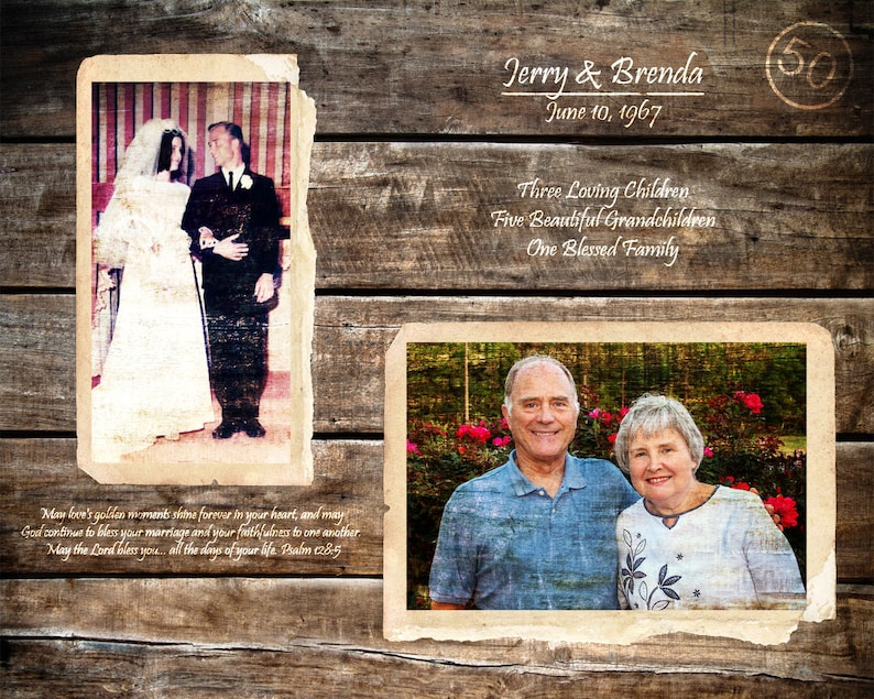 Parents 50th Anniversary Gift 50 Years Of Marriage Golden Etsy