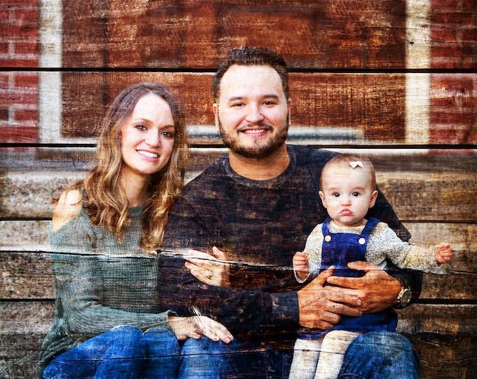 Custom Family Portrait Couple Portrait Gift Wedding Entrance Sign Gift For Couple Photo On Wood Photo Gift Wood Print Wedding Decor 16x20