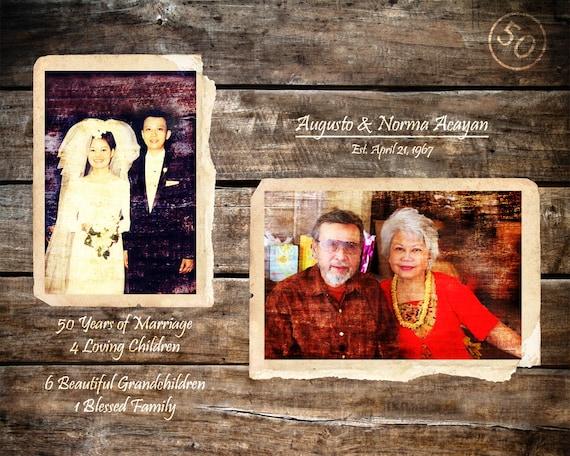 Eltern 50 Jahrestag Geschenk Goldene Hochzeit 50 Jahre Ehe Etsy