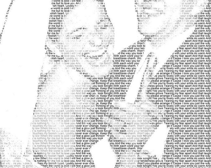 First Dance Lyrics Wedding Vow Art 1st Anniversary Paper Anniversary Gift Wedding Song Lyric Photo Gift on Art Paper 8.5x11