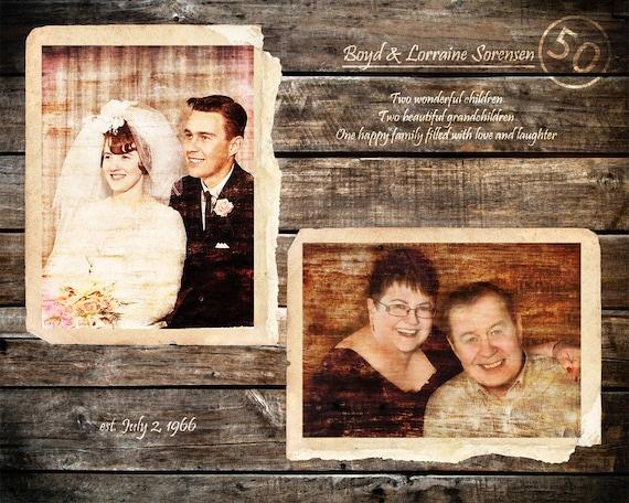 Eltern 50 Jahrestag Geschenk Goldene Hochzeit 50 Jahre Ehe Eltern Jahrestag Geschenk Nach Hause Dekor Geschenke Für Die Eltern 16 X 20