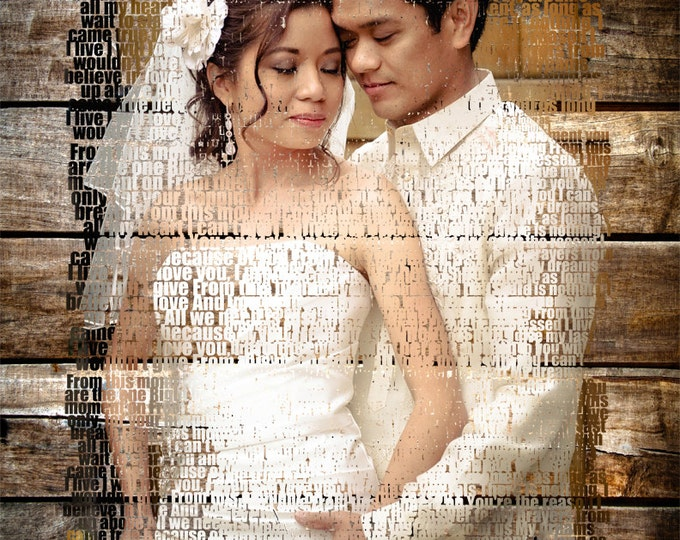 5th Anniversary Gift First Dance Lyrics 5th Anniversary First Dance Song 5 Year Anniversary Parents Anniversary Wedding Vow Art 20x24