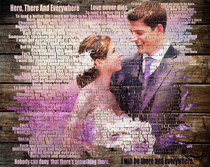5th Anniversary Gift Wedding Vow Art First Dance Lyrics Wedding Song Lyrics Song Lyric Art First Dance Song 5 Year Anniversary Gift 16x20
