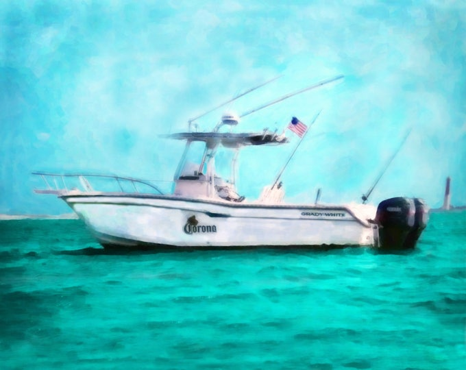 Custom Boat Oil Painting Boating Gifts Photo Gift Christmas Photo Gift Boat Painting Gift For Him Canvas Art Home Decor Wall Art  16x20