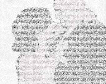 First Dance Lyrics First Dance Songs First dance Song 1st Anniversary Gift Wedding Song Lyrics Wedding Vow Art on Heavyweight Paper 8.5x11