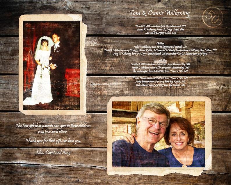 I Genitori 50 Anniversario Regalo 50 Anni Di Matrimonio 50 Anni Fa Golden Anniversario Genitori Anniversario Regalo Regali Per I Genitori 16x20