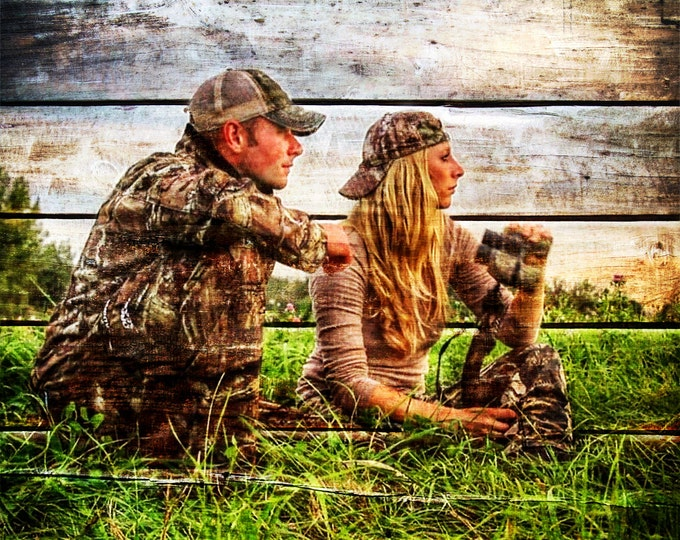 Hunter Gift Outdoorsman Gift Photo Gift Photo On Wood Gift For Couple Gift For Him Gift For Husband Wood Print Rustic Home Decor