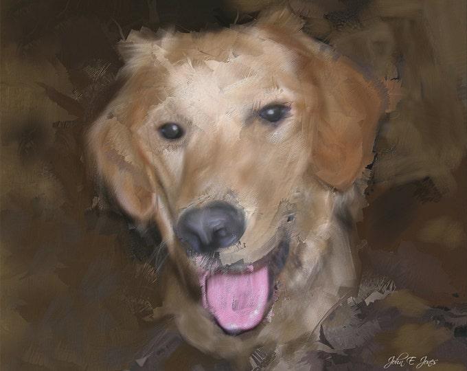 Custom Pet Portrait Best Friend Gift Pet Memorial In Memory Of Original Painting Custom Oil Painting Dog Painting Pet Art Pet Painting 16x20