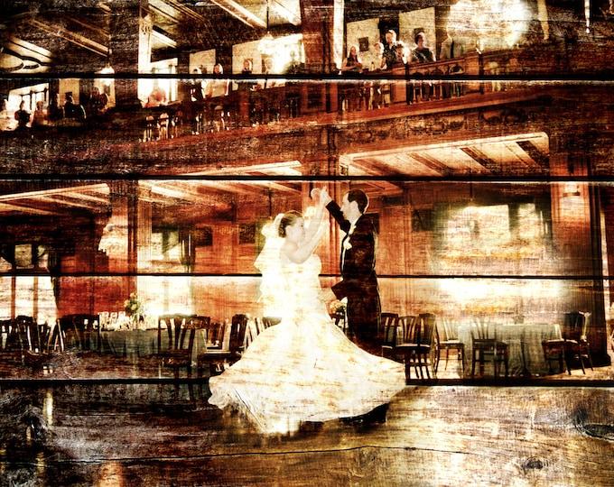 5th Anniversary, Wood Anniversary, REAL WOOD print, Custom Anniversary Gift Wedding Decoration or Wedding Anniversary Gift 20x24