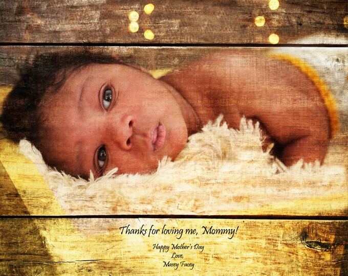 First Fathers Day First Mothers Day New Dad New Mom Gift From Daughter Gift From Son Family Portrait Wood Gift For Dad Gift For Mom 16x20