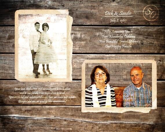 Goldene Hochzeit 50 Jahrestag Geschenk Eltern Jahrestag Geschenk 50 Jahren Ehe Vor 50 Jahren Nach Hause Dekor Holz Druck 16 X 20