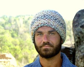 Knit Hat Pattern PDF Waffle Honeycomb Knit Beanie Hat Pattern Thick and Quick Hat Pattern Instant Download