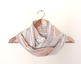Cotton Cowl Scarf Infinity Pastel Southwest Light Weight Scarf Eco Friendly Vintage Fabric Cowl