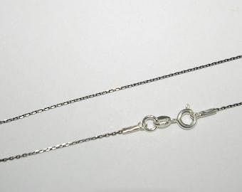 Black Ruthenium Plated Chain \u2022 Black Chain \u2022 925 Sterling Silver Chain \u2022 Gift for Him \u2022 Chain for Man \u2022 Men/'s Chain