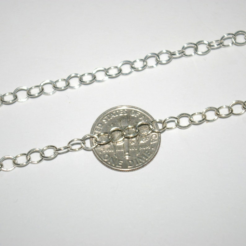 Genuine Italian Silver Free Shipping Worldwide WHOLESALE LOTS 4x5mm Oval Cable Chain 925 Sterling Silver BULK Continuous By the foot