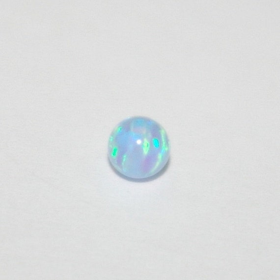 3 Pcs Rare Blue Opal Top Quality Oval Drilled Beads Gems 30mm-32mm~1.2 Hole Size