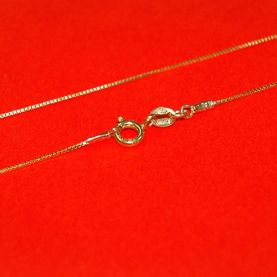 Anklet Made In Italy 10 inch* // 1.5mm* Box Chain BN - Sterling Silver